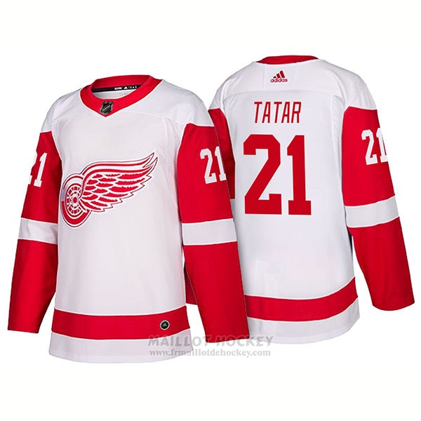 Maillot Detroit Red Wings 21 Tomas Tatar New Outfitted 2018 Blanc
