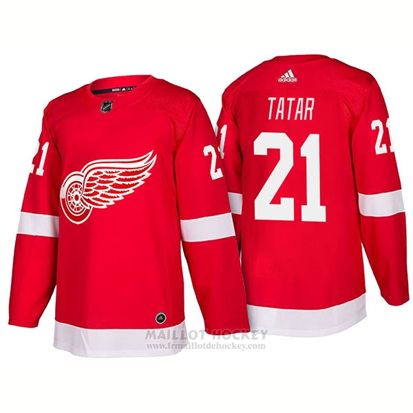 Maillot Detroit Red Wings 21 Tomas Tatar New Outfitted 2018 Rouge
