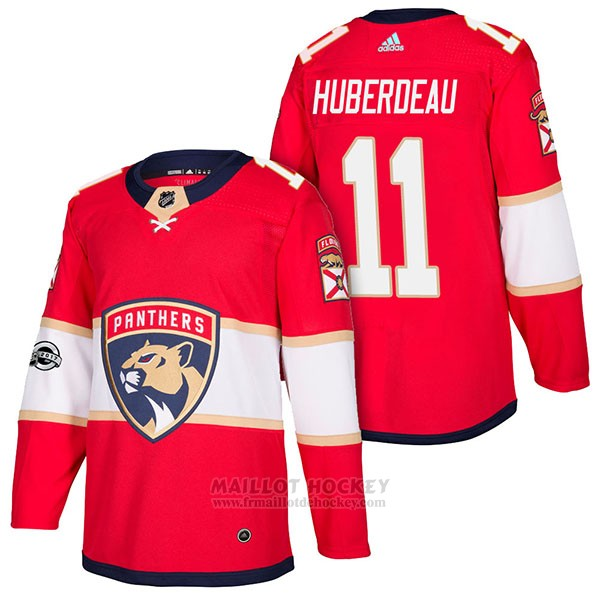 Maillot Authentique Florida Panthers 11 Jonathan Huberdeau Home 2018 Rouge
