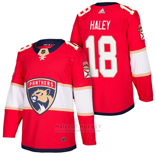 Maillot Authentique Florida Panthers 18 Micheal Haley Home 2018 Rouge