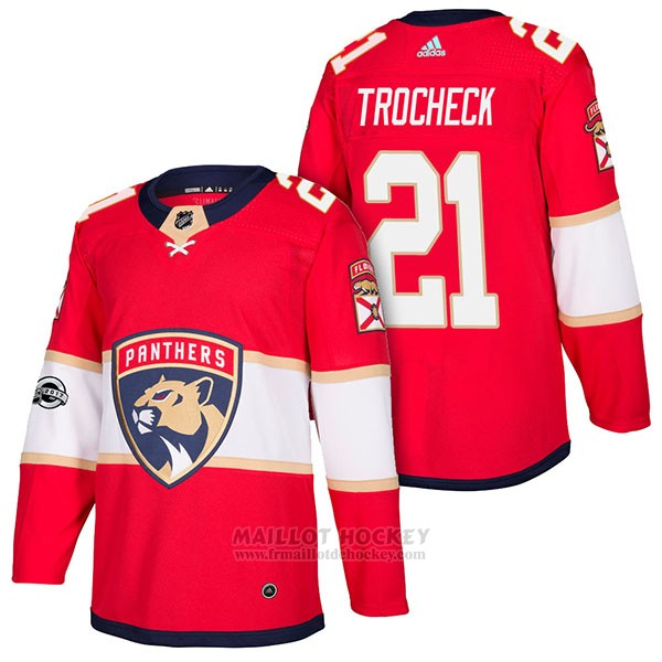 Maillot Authentique Florida Panthers 21 Vincent Trocheck Home 2018 Rouge