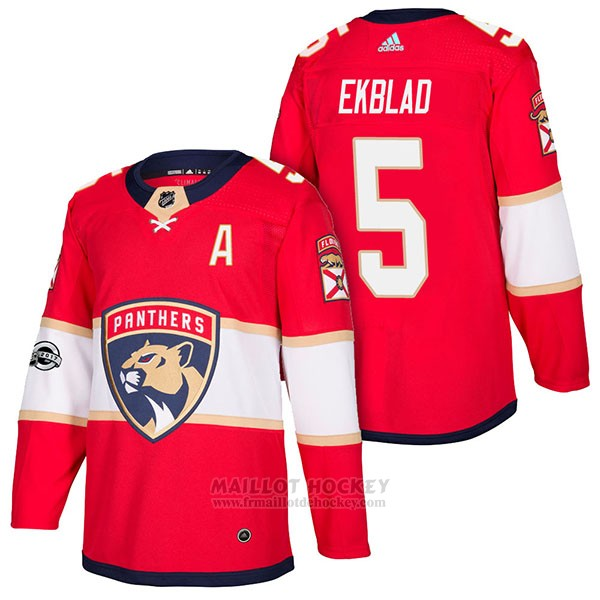 Maillot Authentique Florida Panthers 5 Aaron Ekblad Home 2018 Rouge