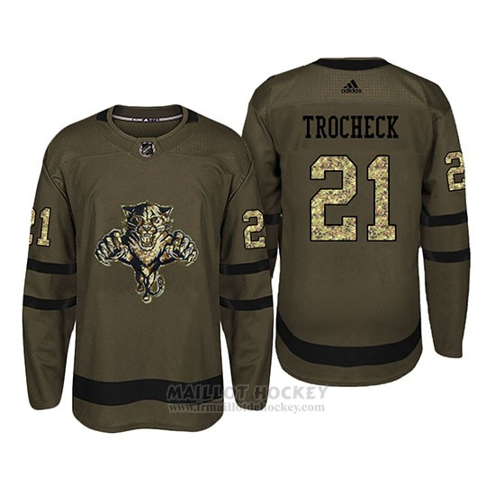 Maillot Florida Panthers 21 Vincent Trocheck Camo Salute To Service