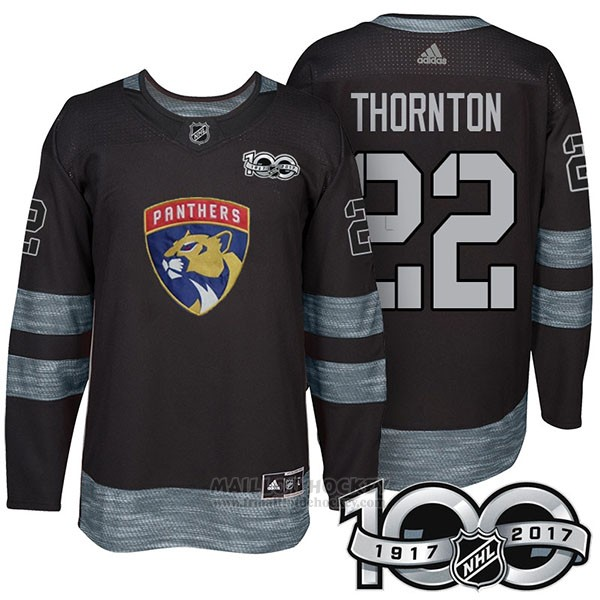 Maillot Florida Panthers 22 Shawn Thornton 2017 Centennial Limited Noir
