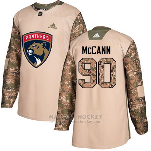 Maillot Florida Panthers 90 Jarojo Mccann Camo Authentique 2017 Veterans Day Stitched