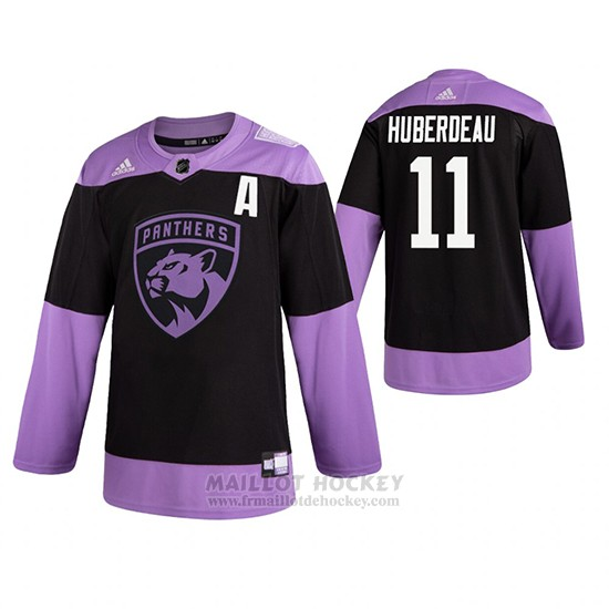 Maillot Florida Panthers Jonathan Huberdeau Fights Cancer Noir