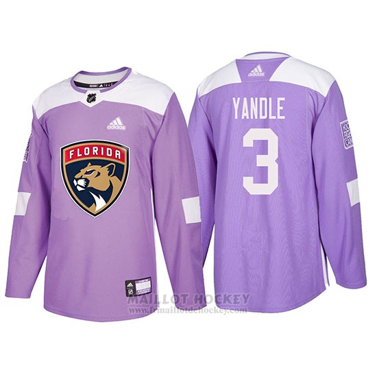 Maillot Florida Panthers Keith Yandle Hockey Fights Cancer Volet