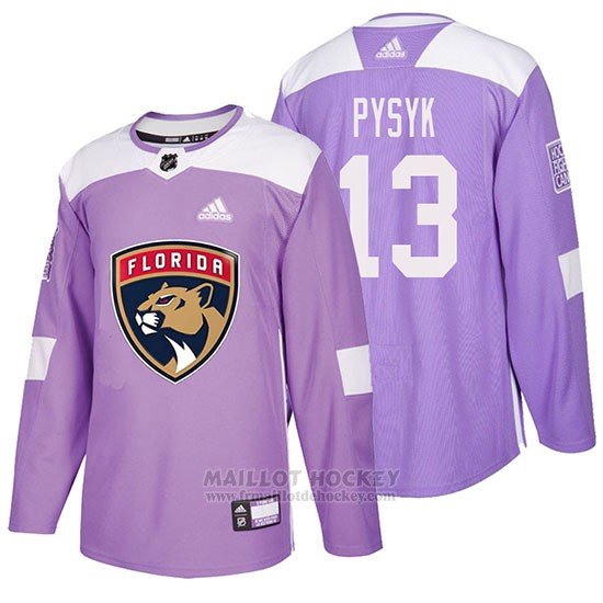 Maillot Florida Panthers Mark Pysyk Hockey Fights Cancer Volet