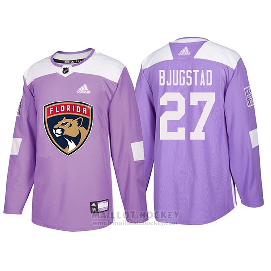 Maillot Florida Panthers Nick Bjugstad Hockey Fights Cancer Volet
