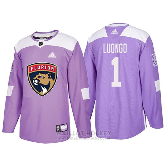 Maillot Florida Panthers Roberto Luongo Hockey Fights Cancer Volet