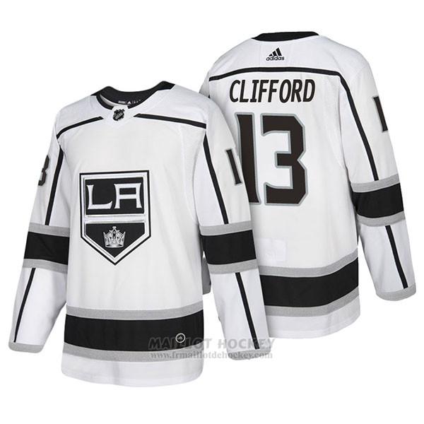 Maillot Authentique Los Angeles Kings 13 Kyle Clifford Away 2018 Blanc