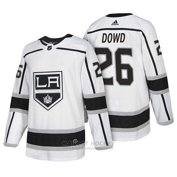Maillot Authentique Los Angeles Kings 26 Nic Dowd Away 2018 Blanc