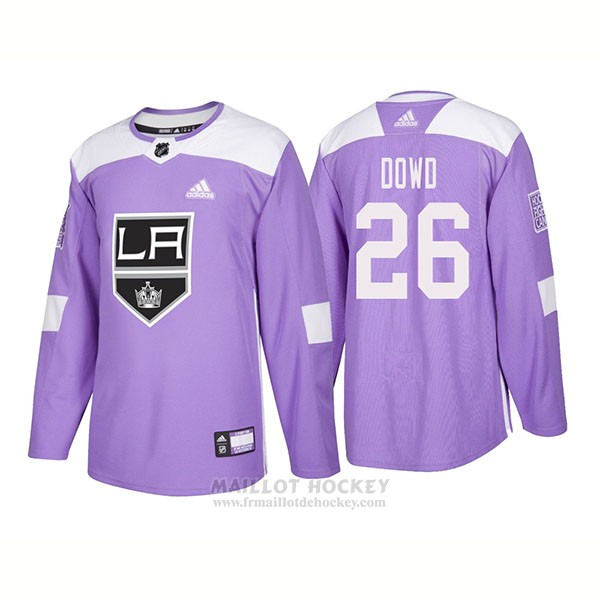 Maillot Authentique Los Angeles Kings 26 Nic Dowd Hockey Fights Cancer 2018 Volet
