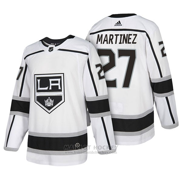 Maillot Authentique Los Angeles Kings 27 Alec Martinez Away 2018 Blanc
