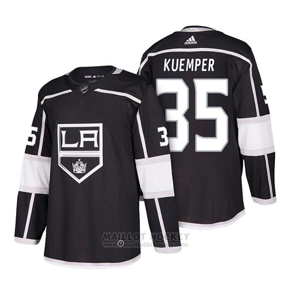 Maillot Authentique Los Angeles Kings 35 Darcy Kuemper Home 2018 Noir