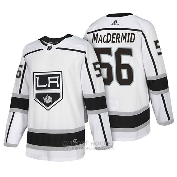 Maillot Authentique Los Angeles Kings 56 Kurtis Macdermid Away 2018 Blanc