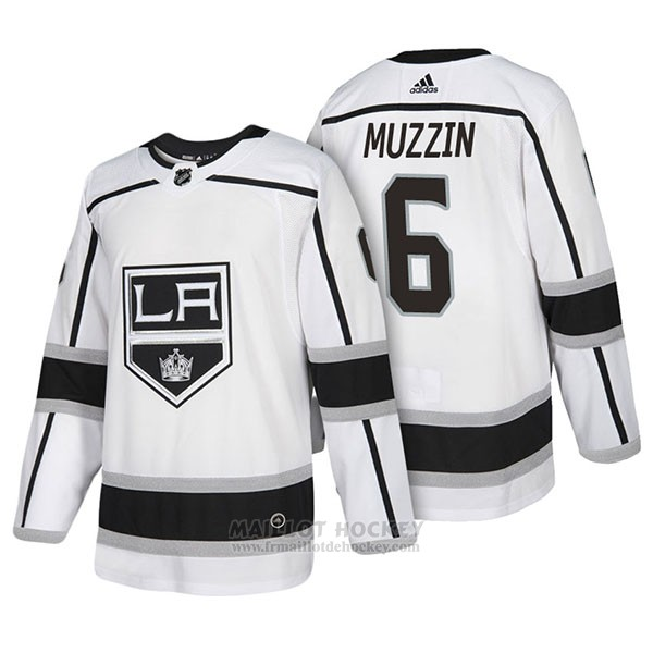 Maillot Authentique Los Angeles Kings 6 Jake Muzzin Away 2018 Blanc