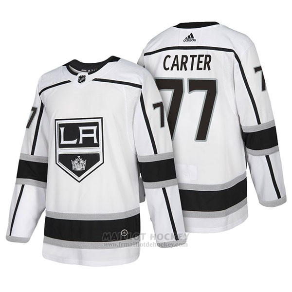 Maillot Authentique Los Angeles Kings 77 Jeff Carter Away 2018 Blanc