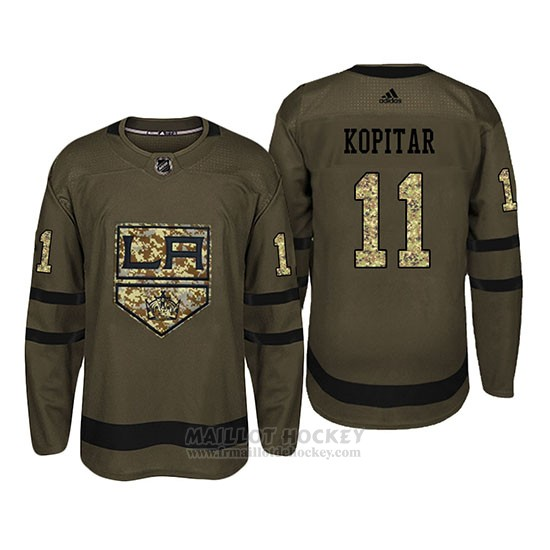 Maillot Los Angeles Kings 11 Anze Kopitar Camo Salute To Service