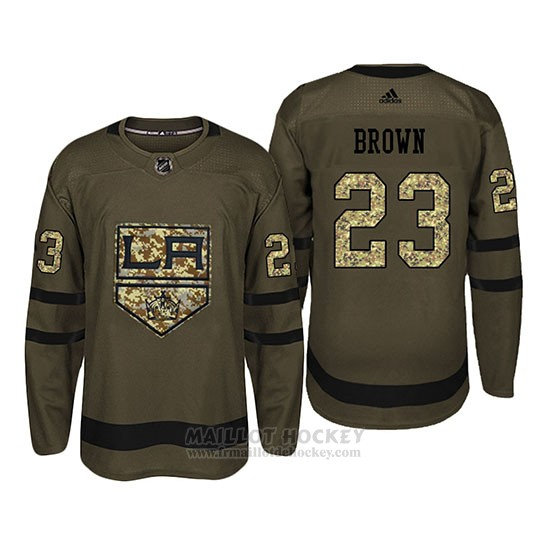 Maillot Los Angeles Kings 23 Dustin Brown Camo Salute To Service