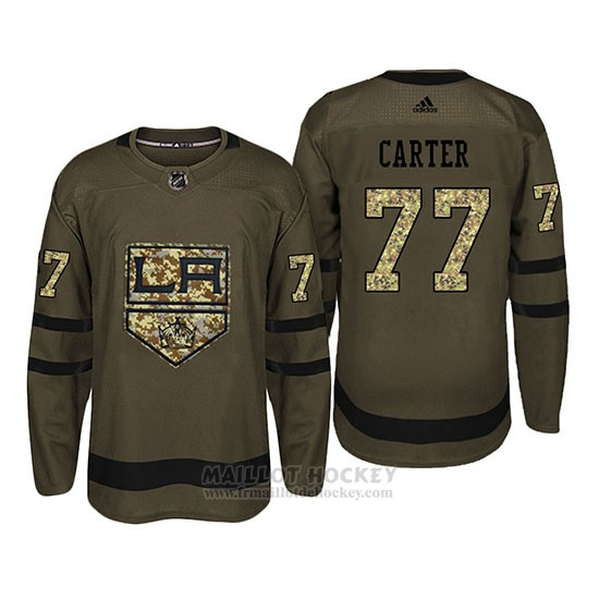 Maillot Los Angeles Kings 77 Jeff Carter Camo Salute To Service