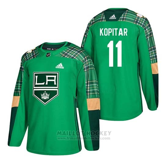 Maillot Los Angeles Kings Anze Kopitar 2018 St. Patrick's Day Vert