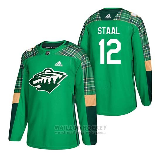 Maillot Minnesota Wild Eric Staal 2018 St. Patrick's Day Vert