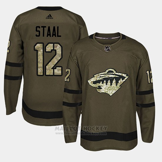 Maillot Minnesota Wild Eric Staal Camo Salute To Service