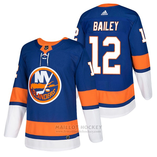 Maillot Authentique New York Islanders 12 Josh Bailey Home 2018 Bleu