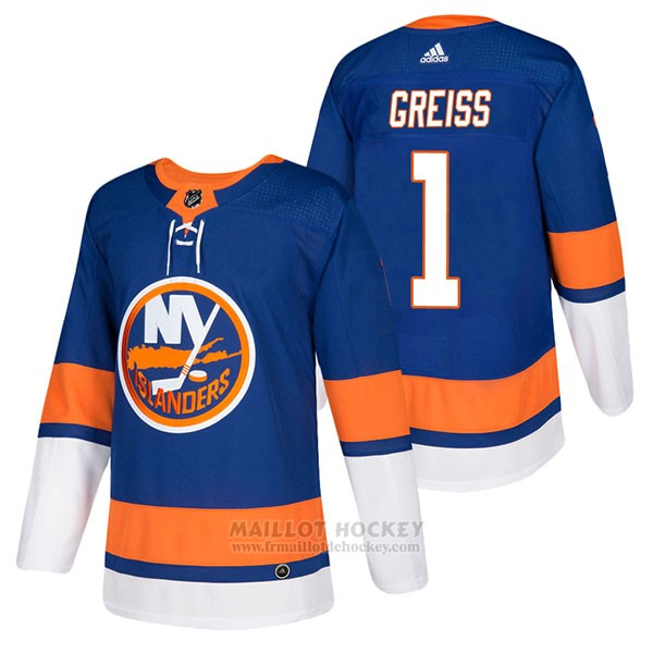 Maillot Authentique New York Islanders 1 Thomas Greiss Home 2018 Bleu