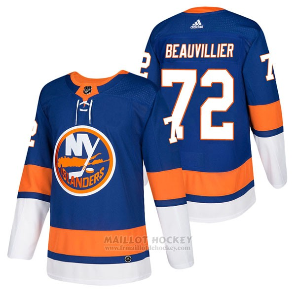 Maillot Authentique New York Islanders 72 Anthony Beauvillier Home 2018 Bleu