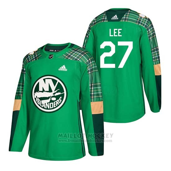 Maillot New York Islanders Anders Lee 2018 St. Patrick's Day Vert
