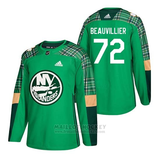 Maillot New York Islanders Anthony Beauvillier 2018 St. Patrick's Day Vert