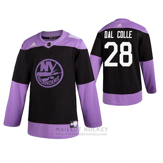Maillot New York Islanders Michael Dal Colle Fights Cancer Practice Noir