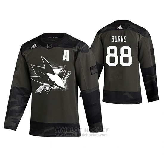 Maillot Pittsburgh Penguins Brent Burns 2019 Veterans Day Authentique Practice
