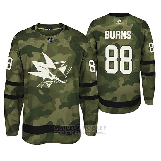 Maillot Pittsburgh Penguins Brent Burns Armed Special Forces Authentique Joueur