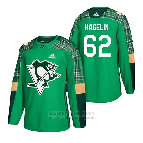 Maillot Pittsburgh Penguins Carl Hagelin 2018 St. Patrick's Day Vert