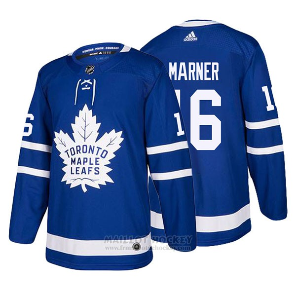 Maillot Toronto Maple Leafs 16 Mitchell Marner Home 2017-2018 Bleu