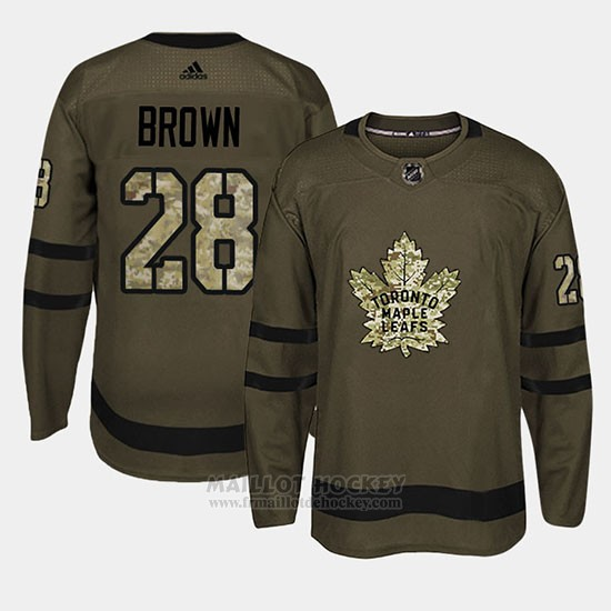 Maillot Toronto Maple Leafs Connor Brown Camo Salute To Service