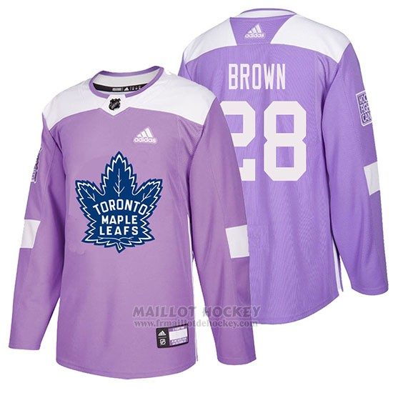 Maillot Toronto Maple Leafs Connor Brown Hockey Fights Cancer Volet