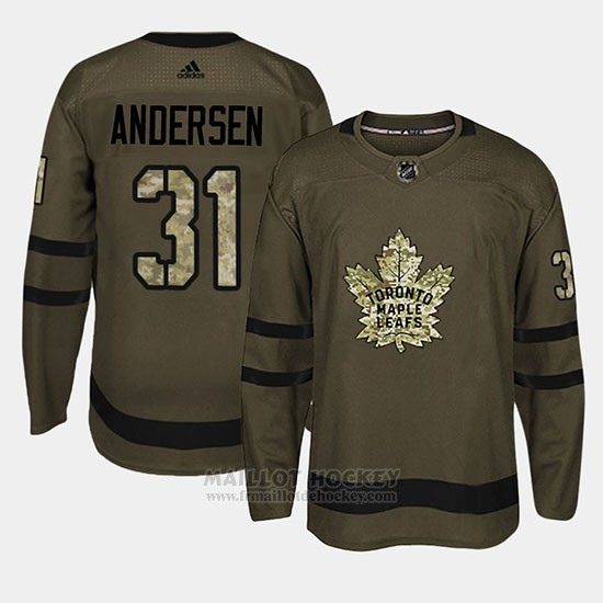 Maillot Toronto Maple Leafs Frederik Andersen Camo Salute To Service