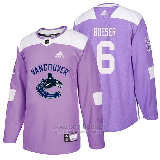 Maillot Vancouver Canucks Brock Boeser Hockey Fights Cancer Volet