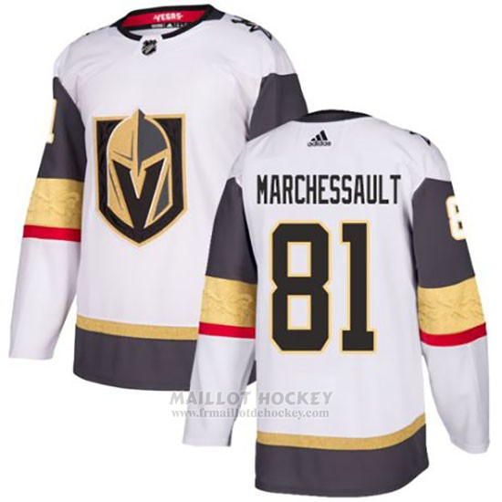 Maillot Vegas Golden Knights 81 Jonathan Marchessault Blanc Authentique Stitched