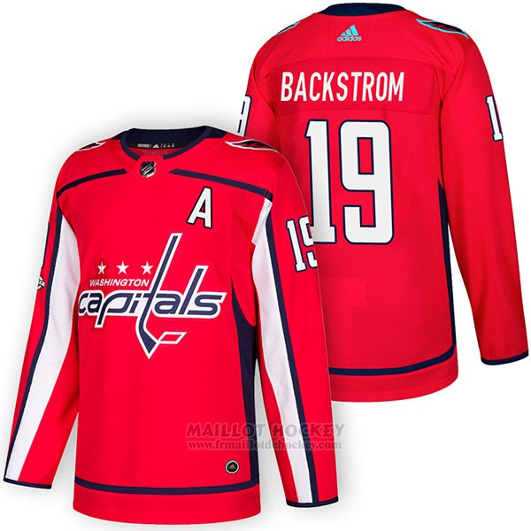 Maillot Authentique Washington Capitals 19 Nicklas Backstrom Home 2018 Rouge