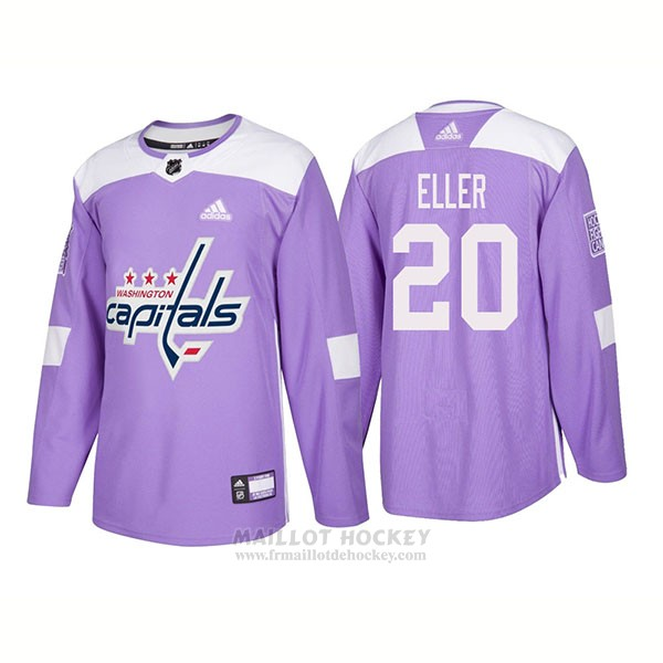 Maillot Authentique Washington Capitals 20 Lars Eller Hockey Fights Cancer 2018 Volet