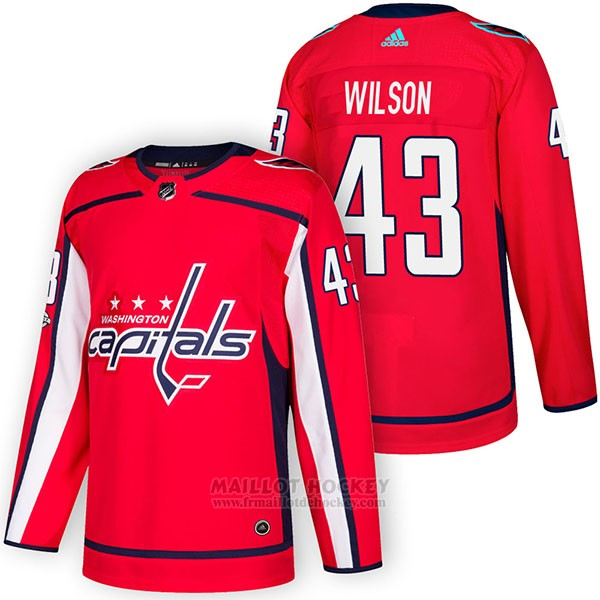 Maillot Authentique Washington Capitals 43 Tom Wilson Home 2018 Rouge