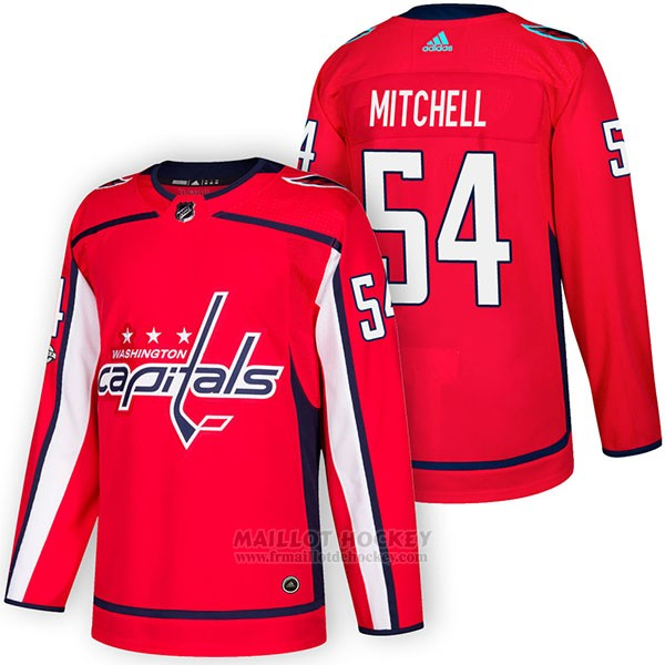 Maillot Authentique Washington Capitals 54 Mason Mitchell Home 2018 Rouge