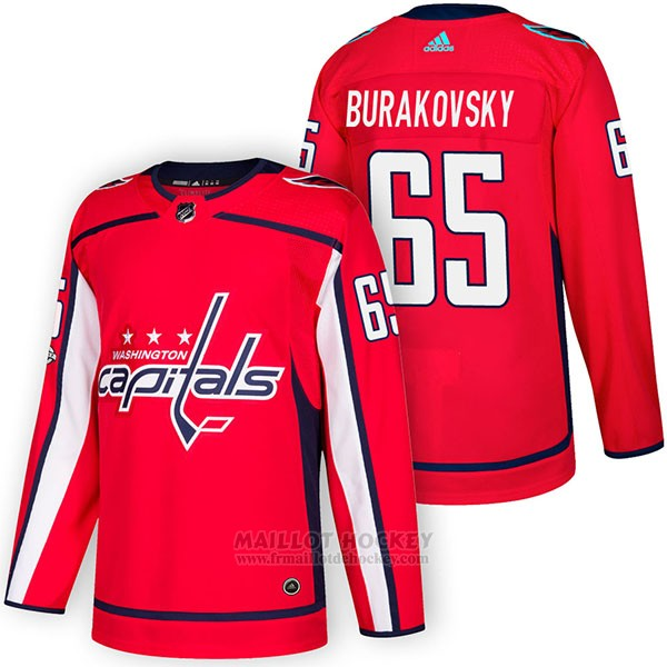 Maillot Authentique Washington Capitals 65 Andre Burakovsky Home 2018 Rouge