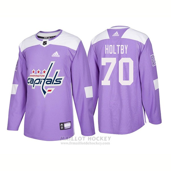 Maillot Authentique Washington Capitals 70 Braden Holtby Hockey Fights Cancer 2018 Volet