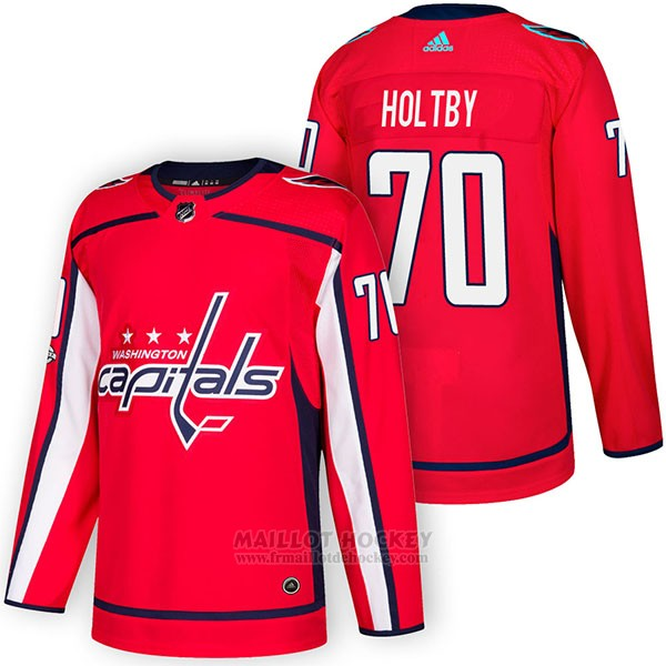 Maillot Authentique Washington Capitals 70 Braden Holtby Home 2018 Rouge